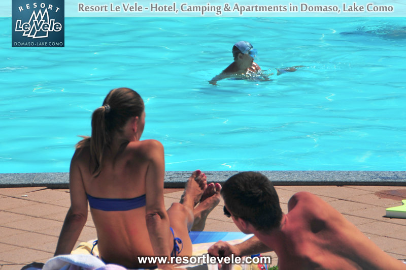 Doppelzimmer mit Balkon Hotel-Pool Domaso Comer See