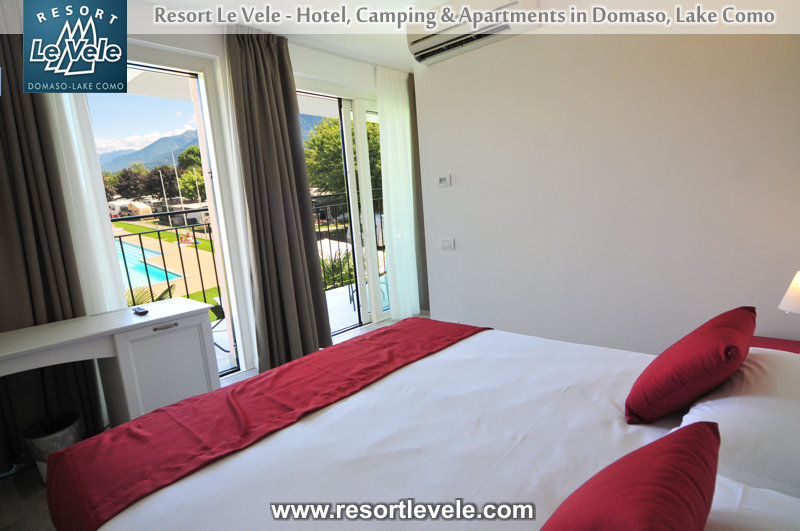 hotel resort le vele domaso lake como - room with balcony lake view