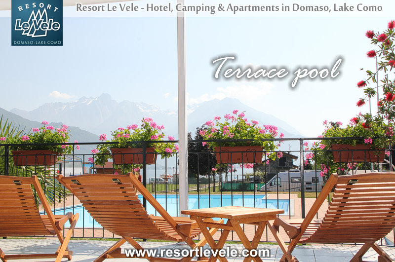 terrace pool hotel domaso lake como lake