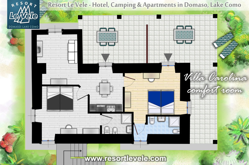 villa carolina Domaso lake Como pianta comfort room first floor