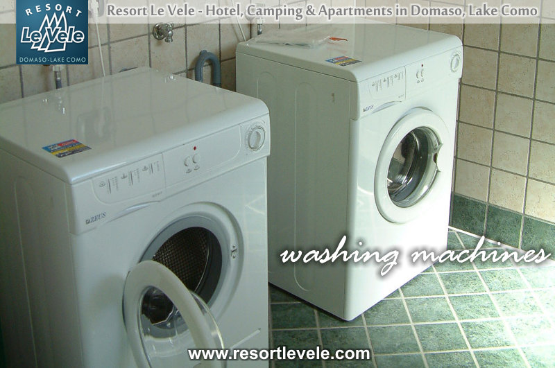 washing machines camping domaso levele lake como